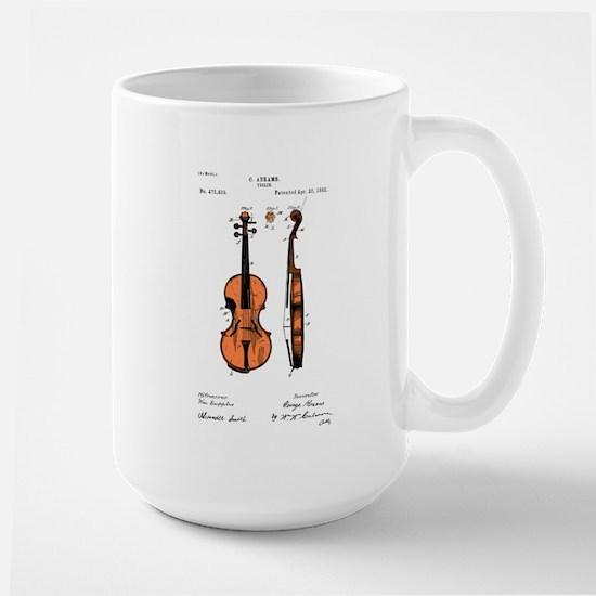 Fiddle (Full) Patent Large Mug