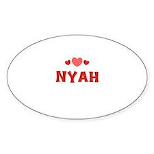 Nyah Oval Decal