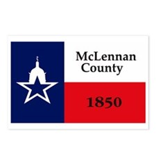 McLennan County Flag Postcards (Package of 8)