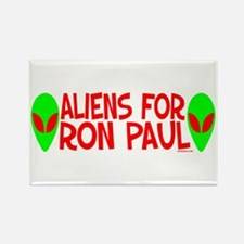 Aliens For Ron Paul Rectangle Magnet