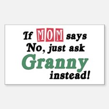 Just Ask Granny! Rectangle Decal