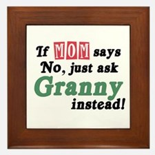 Just Ask Granny! Framed Tile