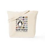 too many penguins Tote Bag
