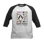 too many penguins Kids Baseball Jersey