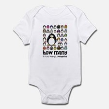 too many penguins Infant Bodysuit