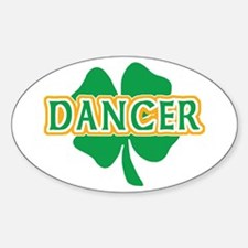 Irish Dancer Oval Decal