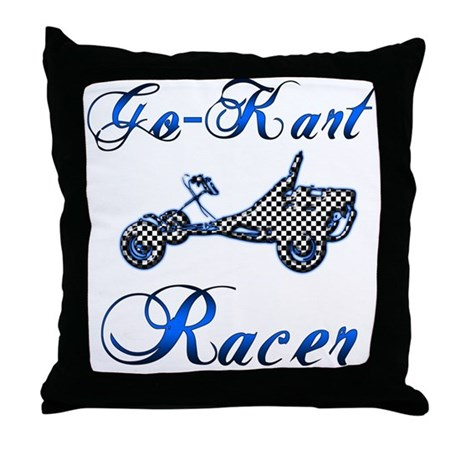 Go-Kart Racer Throw Pillow