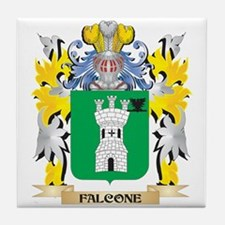 Falcone Coat of Arms - Family Crest Tile Coaster