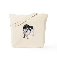 Black White Short Hair Tote Bag