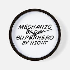 Mechanic Day Superhero Night Wall Clock