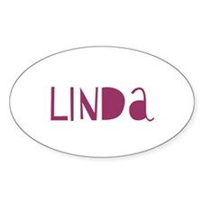 Linda Oval Decal