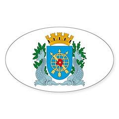 Rio De Janeiro Coat of Arms Oval Decal