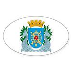 Rio De Janeiro Coat of Arms Oval Sticker