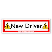 New Driver Sticker with Ad (Bumper)