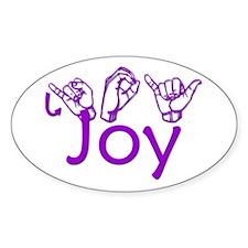 Joy Oval Decal