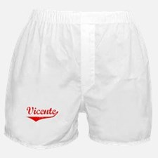 Vicente Vintage (Red) Boxer Shorts
