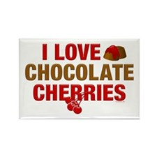 Chocolate Cherries Rectangle Magnet