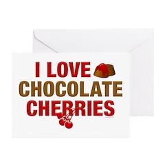 Chocolate Cherries Greeting Cards (Pk of 10)