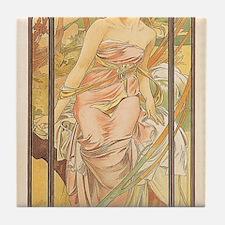 Mucha Eveil du Matin Art Nouveau Tile Set 2/3