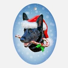 Black Shep Holiday Oval Ornament