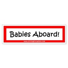 Babies Aboard Sticker with Ad (Bumper)