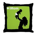 iMom Green Mother's Day Throw Pillow