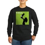 iMom Lime Green Mother's Day Long Sleeve Dark T-S