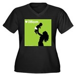 iMom Lime Green Mother's Day Women's Plus Size V-