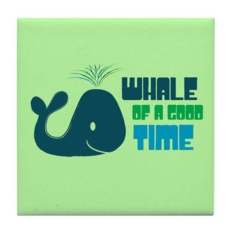 Whale of a Good Time Tile Coaster