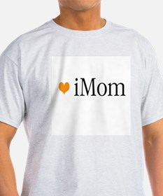 iMom Orange Mother's Day Ash Grey T-Shirt