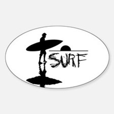 SURF! Oval Decal