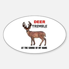 DEER TREMBLE Oval Decal