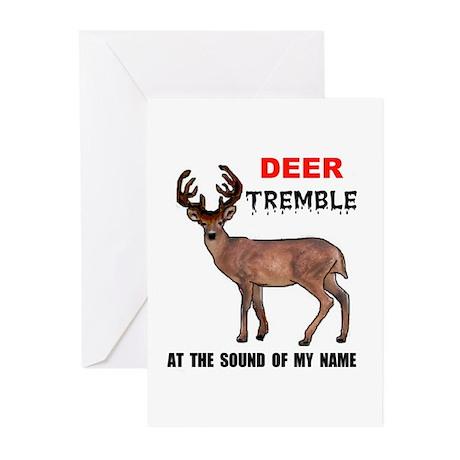 DEER TREMBLE Greeting Cards (Pk of 10)