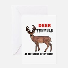 DEER TREMBLE Greeting Card