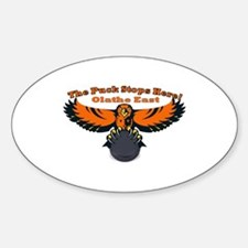 Olathe the Puck stops here Oval Decal