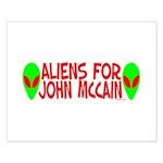 Aliens For John McCain Small Poster