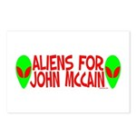 Aliens For John McCain Postcards (Package of 8)