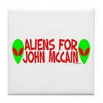Aliens For John McCain Tile Coaster