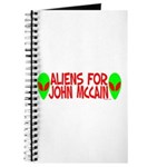 Aliens For John McCain Journal