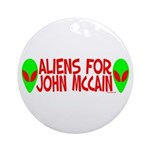 Aliens For John McCain Ornament (Round)