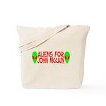 Aliens For John McCain Tote Bag