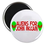 Aliens For John McCain Magnet