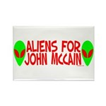 Aliens For John McCain Rectangle Magnet (100 pack)