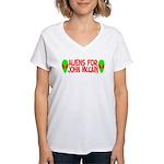 Aliens For John McCain Women's V-Neck T-Shirt