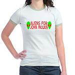 Aliens For John McCain Jr. Ringer T-Shirt