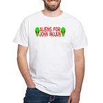 Aliens For John McCain White T-Shirt