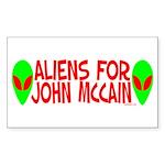 Aliens For John McCain Rectangle Sticker