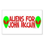 Aliens For John McCain Rectangle Sticker