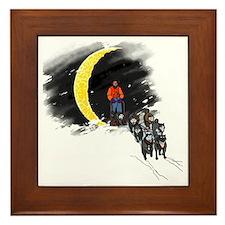 Moonlight Mushing Framed Tile