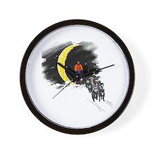 Moonlight Mushing Wall Clock
